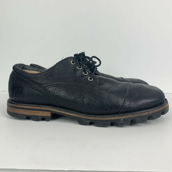 UGG Other - UGG Leather Cap Toe Black Lace Up Oxford Shoes